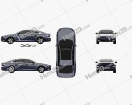 Peugeot 508 liftback 2018 car clipart