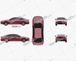 Peugeot 508 liftback GT 2018 car clipart