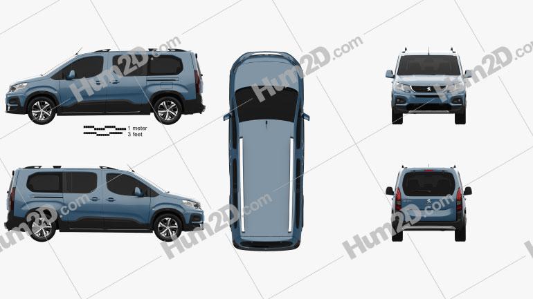 Peugeot Rifter Long 2018 clipart