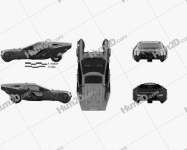 Peugeot Blade Runner 2049 Spinner 2018 car clipart