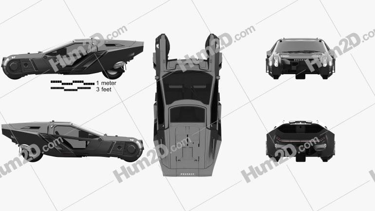 Peugeot Blade Runner 2049 Spinner 2018 Clipart Image