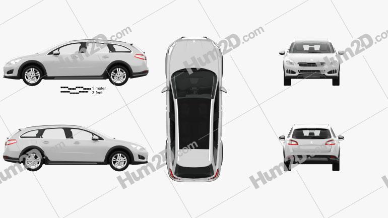 Peugeot 508 RXH com interior HQ 2012 car clipart