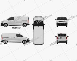 Peugeot Expert Panel Van L2 2019 clipart