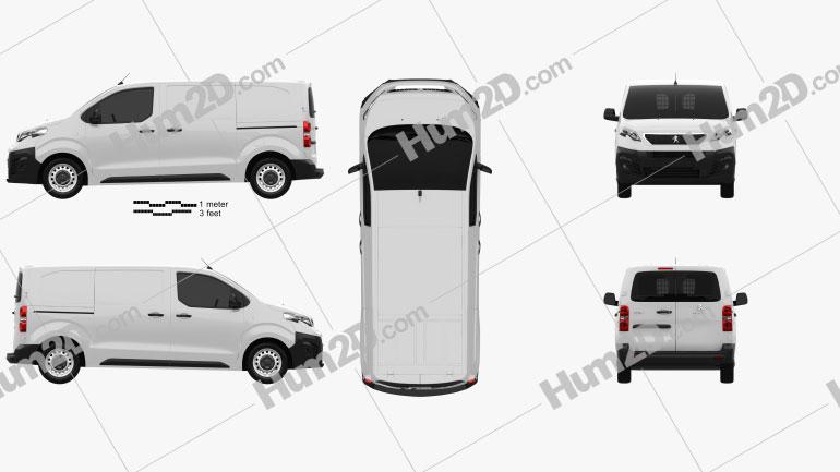 Peugeot Expert Panel Van L2 2019 Clipart Image
