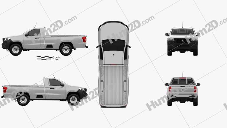 Peugeot Landtrek Single Cab Work horse 2020 car clipart