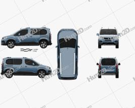 Peugeot Rifter 2018 clipart