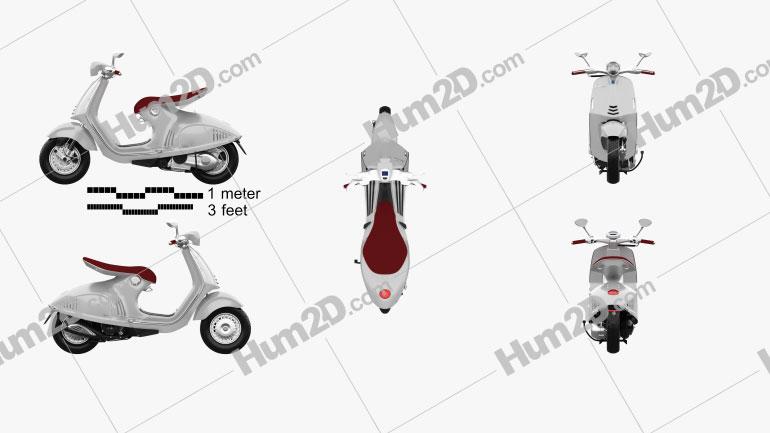 Piaggio Vespa 946 2013 Motorcycle clipart