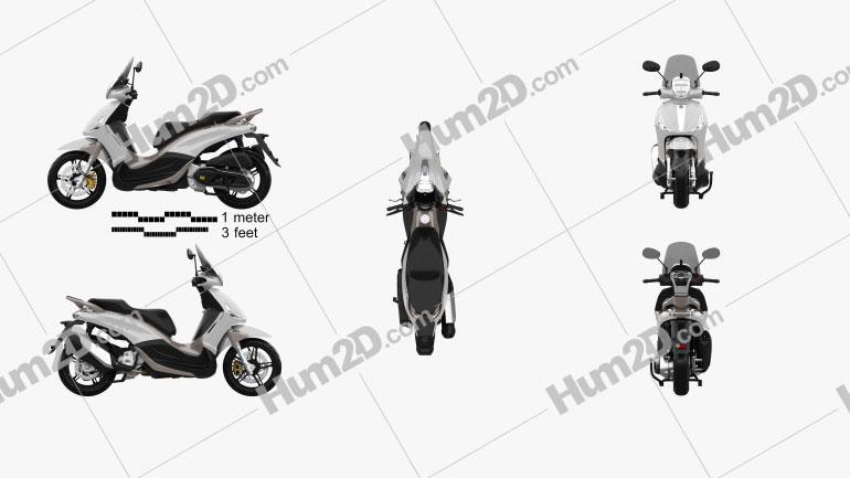 Piaggio BV350 2015 Motorcycle clipart