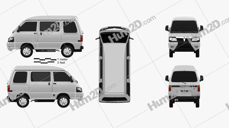 Piaggio Porter Glass Van 2009 clipart