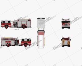Pierce Fire Truck Pumper 2011 clipart
