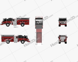 Pierce E402 Pumper Fire Truck 2014 clipart