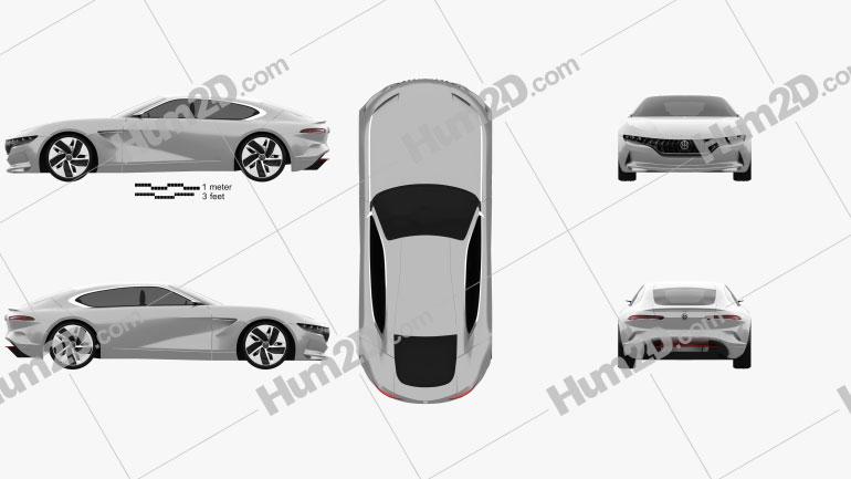 Pininfarina HK GT 2018 car clipart