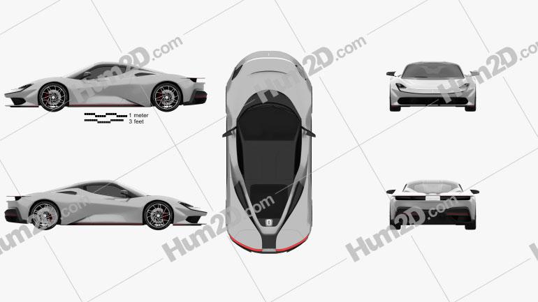 Pininfarina Battista 2020 car clipart
