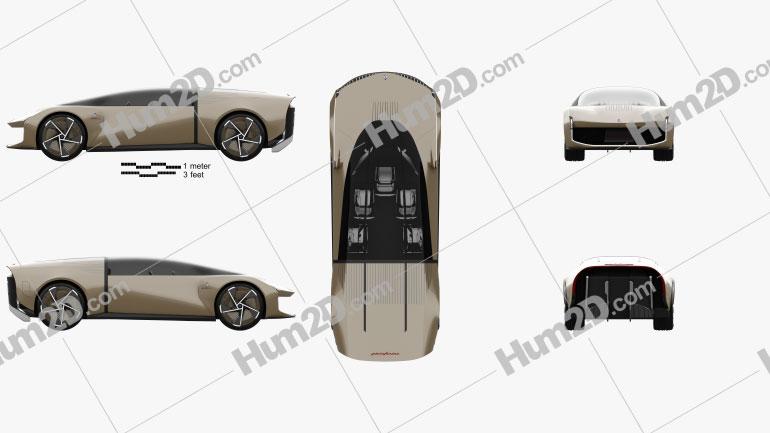 Pininfarina Teorema 2021 car clipart