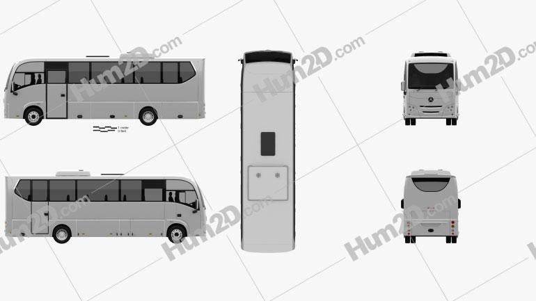 Plaxton Cheetah XL Bus 2016 clipart