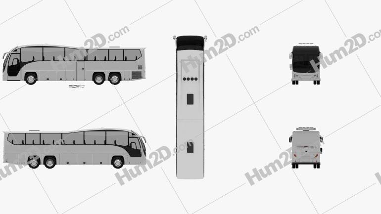 Plaxton Elite NZ-spec Bus 2017 clipart