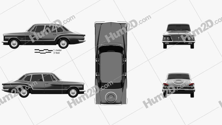 Plymouth Valiant sedan 1960 car clipart