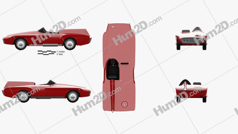 Plymouth XNR 1960 car clipart