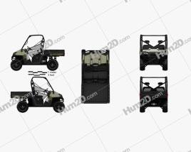 Polaris Ranger Diesel 2014 Clipart