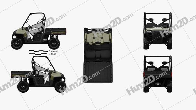 Polaris Ranger Diesel 2014 Clipart Image