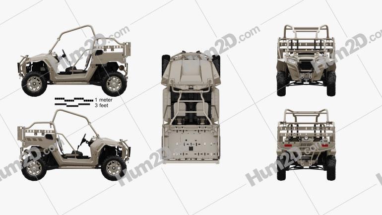 Polaris MRZR 2 Military Tan 2016 clipart