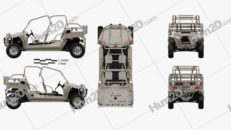 Polaris MRZR 4 Military Tan 2016 clipart