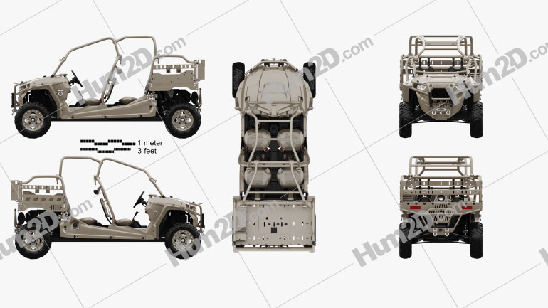 Polaris MRZR D4 Military Tan 2016 clipart