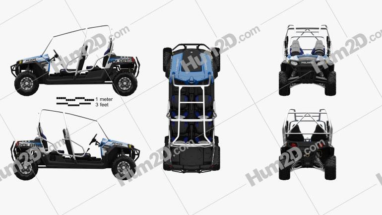 Polaris RZR 4 800 2010 Clipart Image