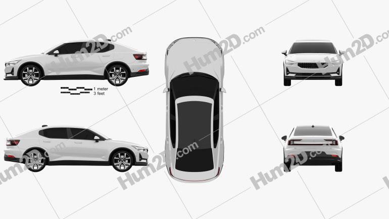 Polestar 2 2019 car clipart