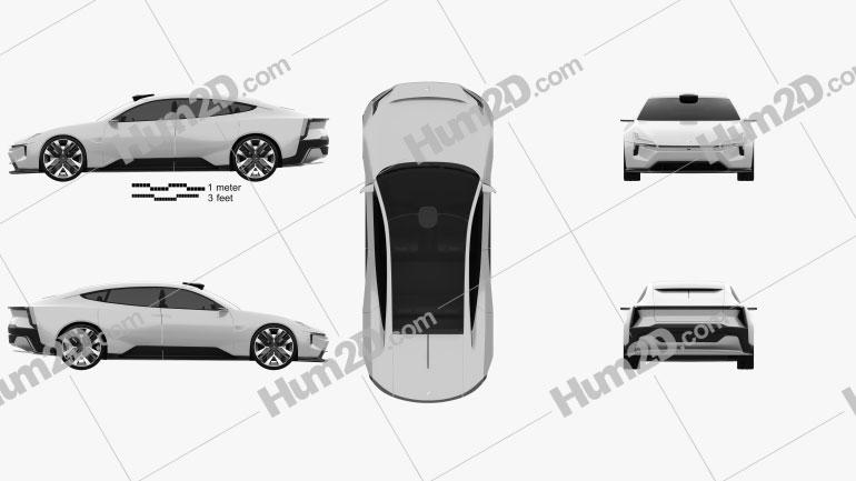 Polestar Precept 2020 car clipart