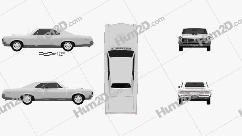 Pontiac GTO 1967 car clipart