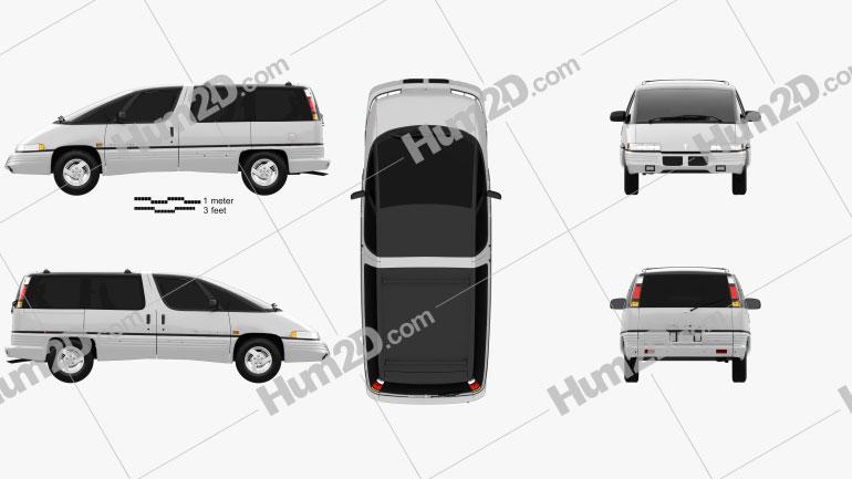 Pontiac Trans Sport 1990 clipart
