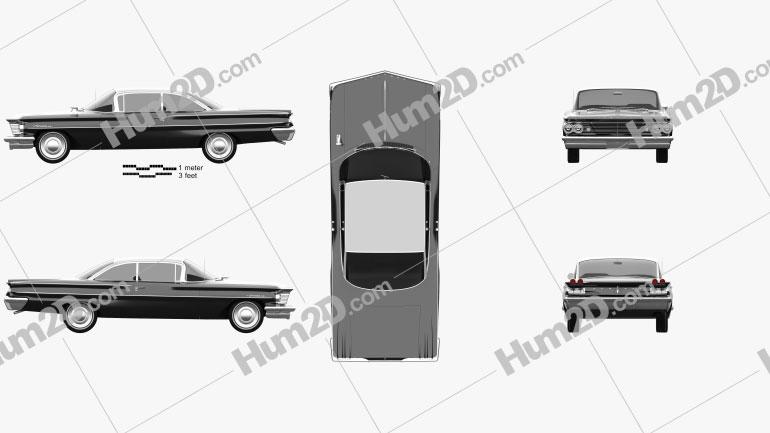 Pontiac Ventura coupe 1960 car clipart
