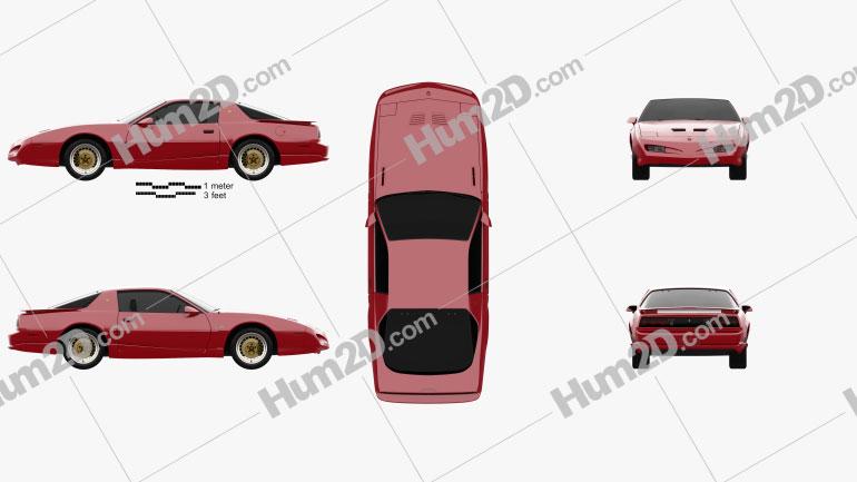 Pontiac Firebird Trans Am GTA 1991 car clipart