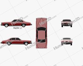 Pontiac Grand LeMans sedan 1976 car clipart