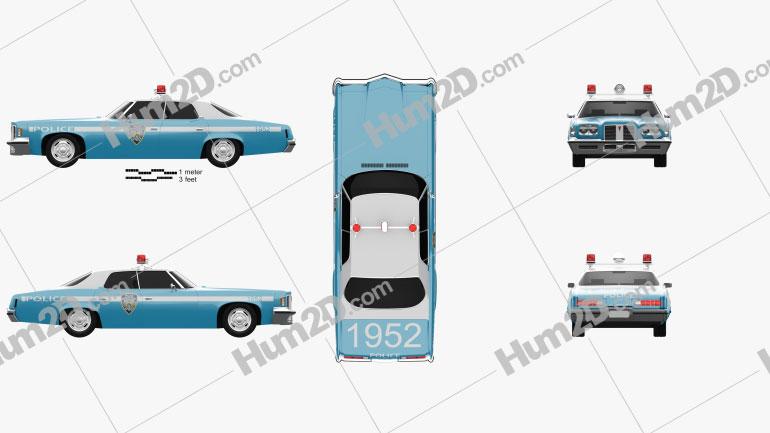 Pontiac Catalina Police 1972 car clipart