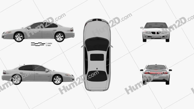 Pontiac Bonneville GXP 2004 car clipart