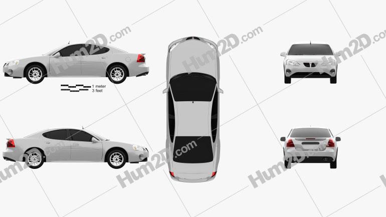 Pontiac Grand Prix GTP 2004 car clipart