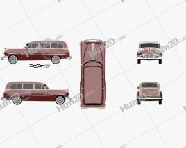Pontiac Chieftain Deluxe Station Wagon 1953 car clipart