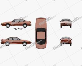 Pontiac Sunbird GT Coupe 1986 car clipart