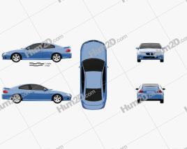 Pontiac GTO 2003 Clipart