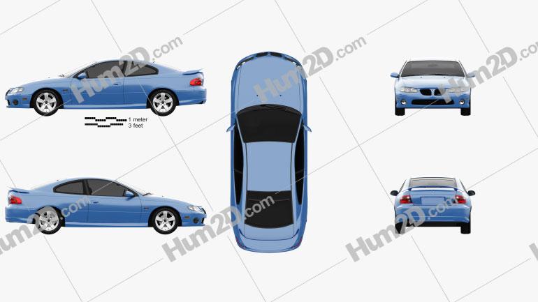 Pontiac GTO 2003 Clipart Image