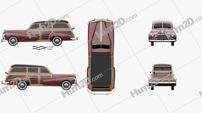 Pontiac Streamliner Eight Station Wagon 1947 car clipart