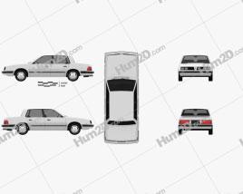 Pontiac 6000 STE 1983 car clipart