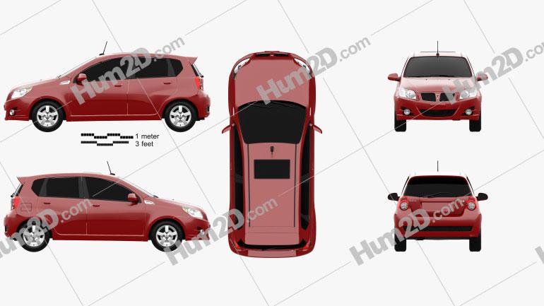 Pontiac G3 (T250) hatchback 2008