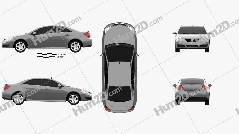 Pontiac G6 2004 car clipart