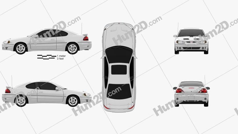 Pontiac Grand Am coupe 1999 car clipart