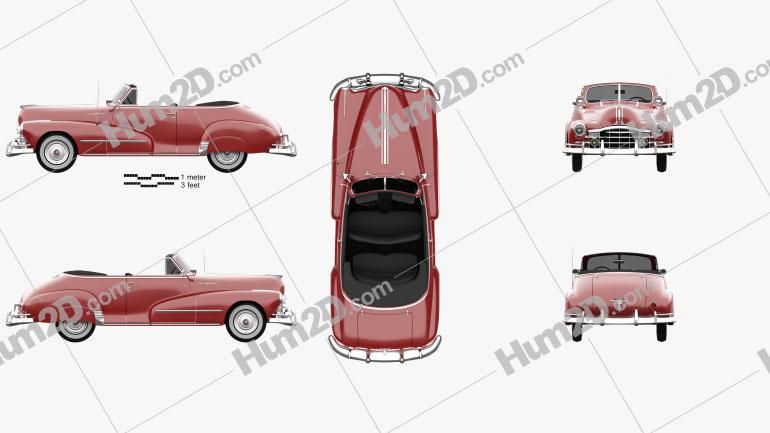 Pontiac Torpedo Eight Deluxe Convertible 1948 car clipart