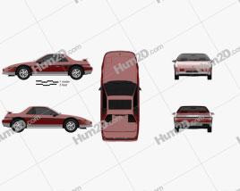 Pontiac Fiero GT 1985 car clipart