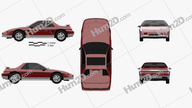 Pontiac Fiero GT 1985 Clipart Image